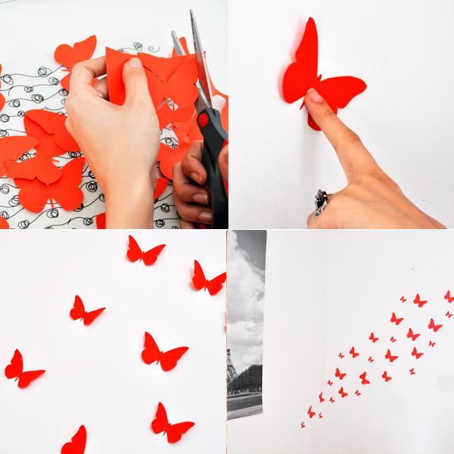 motylki Motylki na ścianę DIY