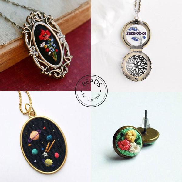 inspiracje haftowanie Haft w biżuterii