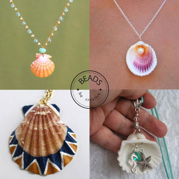 inspiracje muszelki Biżuteria na lato  inspirację z muszlą