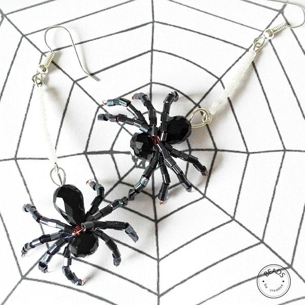 kolczyki pajaki 4 Kolczyki pająki DIY