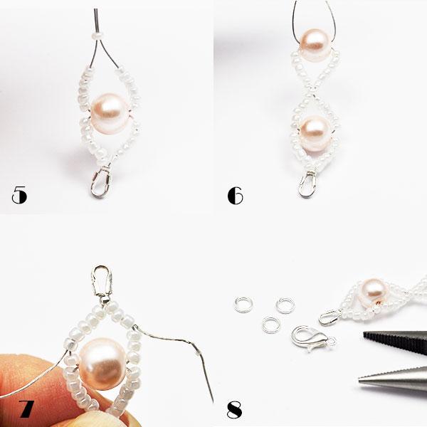tutorial bransoletka perelki 02 Tutorial bransoletka z perełek  prezent dla mamy, siotry, babci