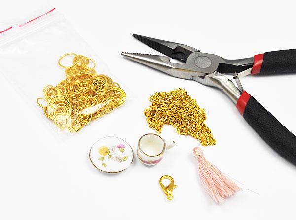 tutorial filizanka Tutorial naszyjnik mini filiżanka